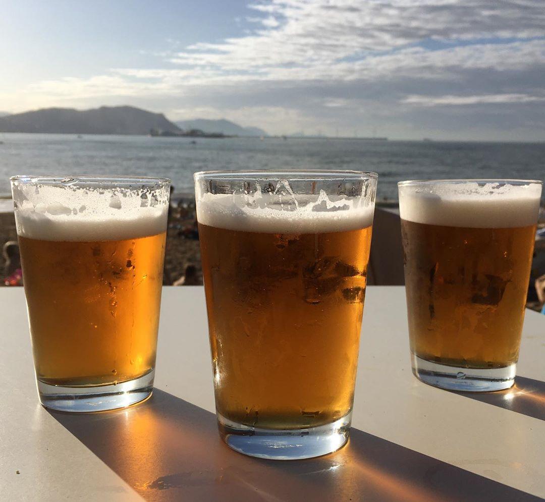 Cheers!!! Bierenergie at La Kantera beach. Thanks Txus @ortxustrops for the rad weekend at La Kantera
